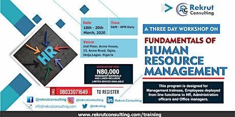 Fundamentals of Human Resource Management tickets