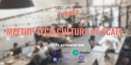 Meetup Tech.Rocks x Algolia x Datatog x Dataiku billets