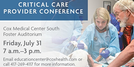 Critical Care Provider Conference tickets