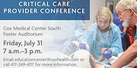 Vendor Registration: Critical Care Provider Conference tickets