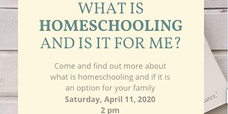 What is Homeschooling and is it for Me? tickets