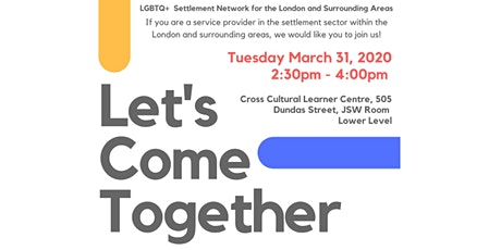 LGBTQ+  Settlement Network Event in London, Ontario tickets