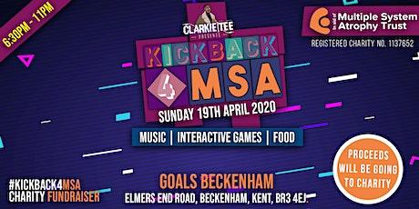 #KICKBACK4MSA - CHARITY GAMES NIGHT tickets