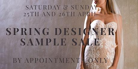 Bridal Spring Designer Sample Sale tickets