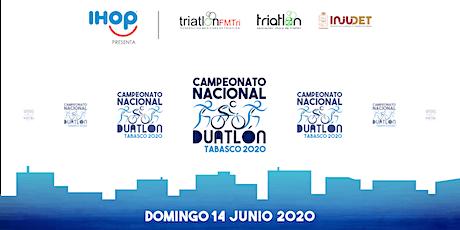 Campeonato Nacional DUATLÓN TABASCO 2020 boletos