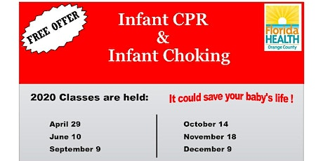 Free Infant CPR and Infant Choking Class tickets