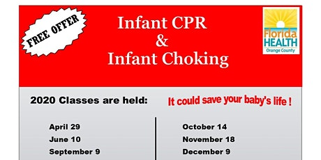 Free Infant CPR & Infant Choking Class tickets
