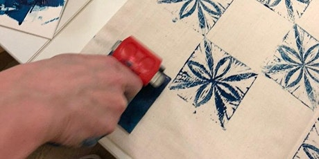 Block Printing textile workshop tickets