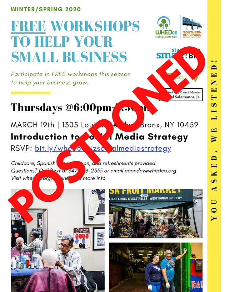 POSTPONED - WHEDco x Start Small: Introduction to Social Media Strategy image