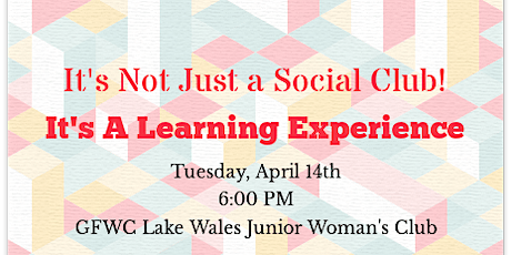 It's Not Just A Social Club - It's A Learning Experience tickets