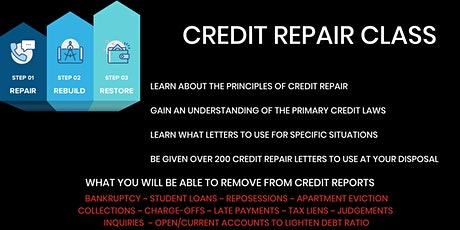 Credit Repair Class Online 1-on-1 Training by Appointment tickets