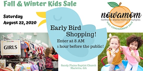 Early Bird Shopping at the NOWAMOM Kids Consignment Sale FALL 2020 tickets