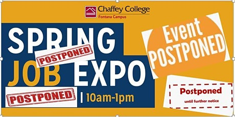 CANCELED - ----- Chaffey College (Fontana  Campus)  - Job Expo 2020 tickets