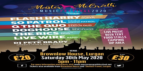 Master McGrath Festival 2020 tickets