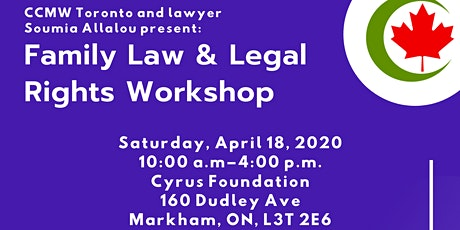 Family Law & Legal Rights Workshop: Toronto Knowledge Sharing Workshop tickets
