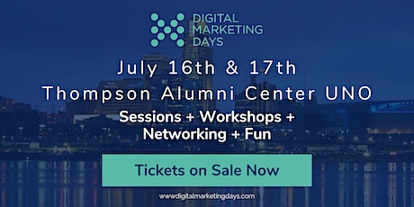 Digital Marketing Days - Omaha - Sessions + Workshops + Networking tickets