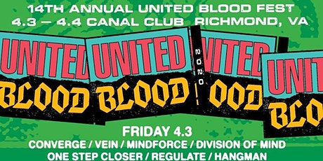 United Blood Festival 14 Fri and Sat April 9 and 10, 2021 tickets
