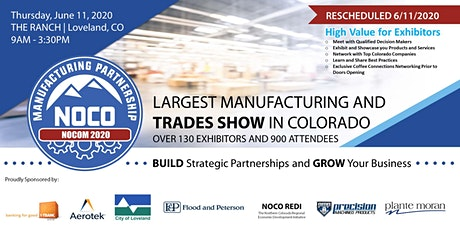 NOCOM Manufacturing & Trades Show Rescheduled to 6/11/2020 - Exhibitors tickets