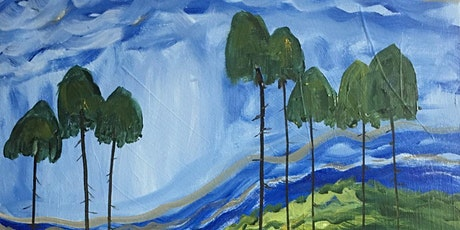 Tall Cedar After Emily Carr Paint & Sip Night - Art Painting, Drink & Food tickets