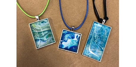 Marbled Paper Pendant Making Class  (08-29-2020 starts at 12:00 PM) tickets