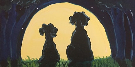 Moonlight Buddies Paint & Sip Night - Art Painting, Drink & Food tickets