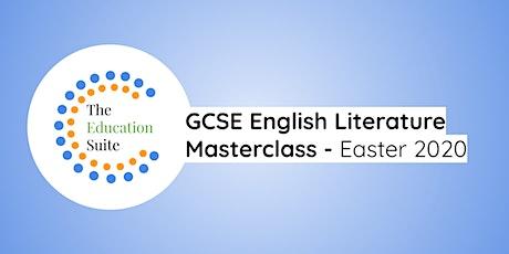 GCSE English Literature Masterclasses tickets