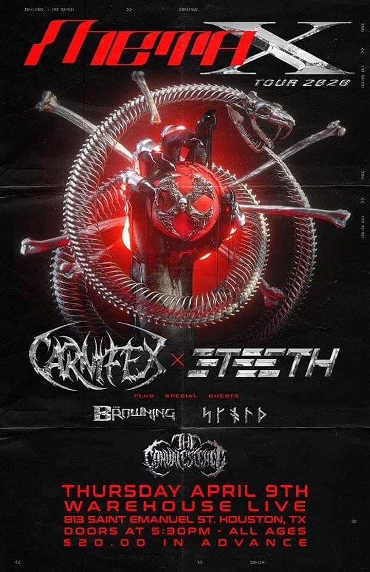 CANCELLED: META X TOUR: CARNIFEX & 3TEETH, SKOLD, THE BROWNING image