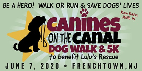 Canines on the Canal 2020 Dog Walk & 5K Run to benefit Lulu's Rescue tickets
