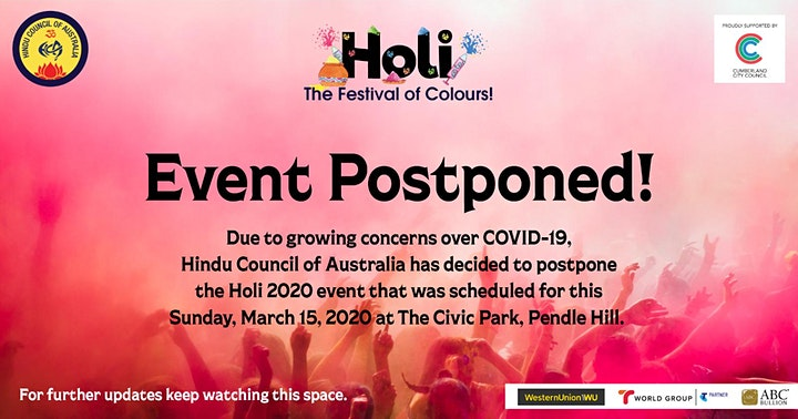 This Event has been Postponed New Dates to be advised Soon image