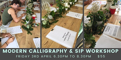 Modern Calligraphy and Sip tickets