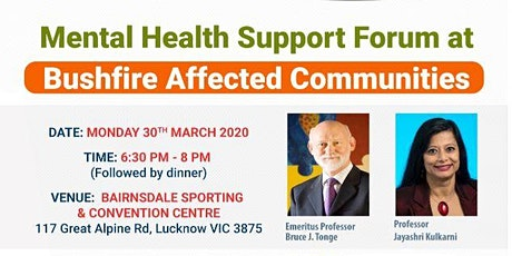 Bushfire Support Forum at Bushfire Affected Communities tickets