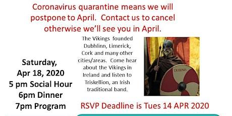 Sons of Norway Apr 18 Dinner -- Vikings in Ireland tickets