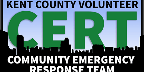 Kent County Volunteer CERT Fall 2020 Class - Two Saturday event tickets
