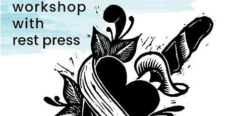Blockprint tattoo workshop w/ Rest Press tickets