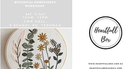 Botanical Embroidery Workshop tickets