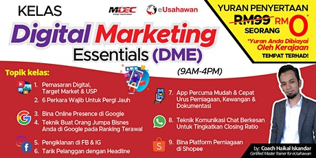 Eusahawan Free Digital Marketing Class (Government Subsidized) tickets