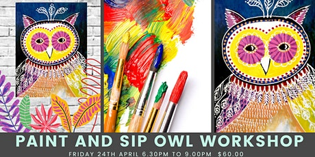 Paint and Sip Owl Workshop tickets
