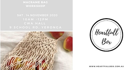 Macrame Bag workshop tickets