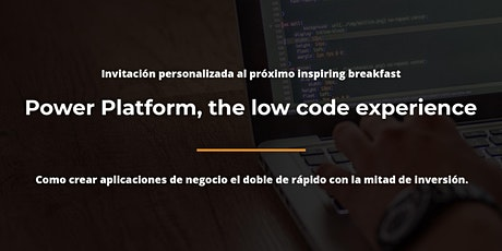 Power Platform, the low code experience- Barcelona tickets