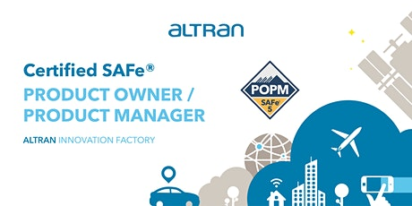 Certified SAFe® PRODUCT OWNER / PRODUCT MANAGER (POPM) tickets
