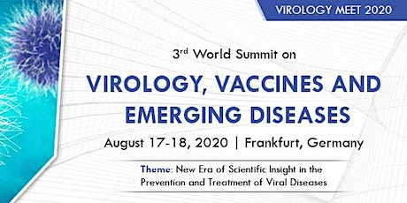 3rd World Summit on Virology, Vaccines & Emerging Diseases tickets