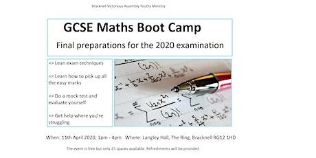 GCSE Maths Boot Camp tickets