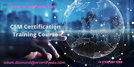 CSM Certification Training Course in Alpharetta ,GA, USA tickets