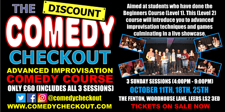 DCC - Advanced Improvisation Comedy Course - Oct - Leeds (3 Sundays) tickets