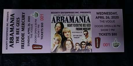 Abbamania: Night Fever/The Bee Gees/Freddie Mercury tickets