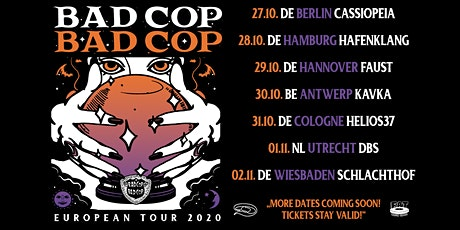 Bad Cop Bad Cop - TBA - Three Eyed Jack tickets