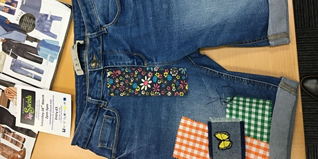 Make do & mend!  Learn how to repair and embellish your clothes tickets