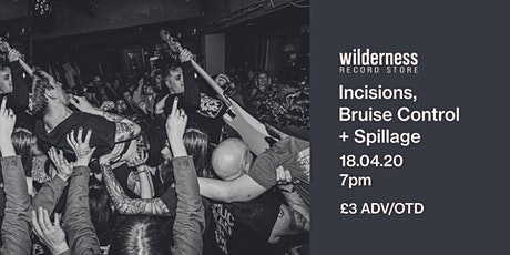 Incisions + Bruise Control tickets