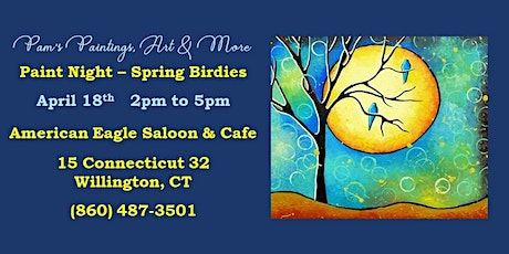 Paint and Sip - Spring Birdies tickets