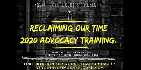 Reclaiming Our Time: 2020 Advocacy Training tickets
